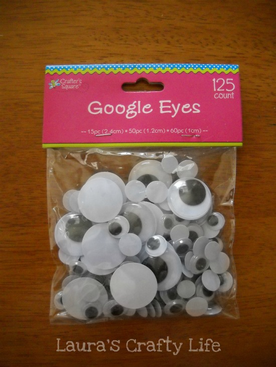 google eyes from Dollar Tree