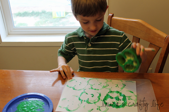 Thomas stamping green pepper
