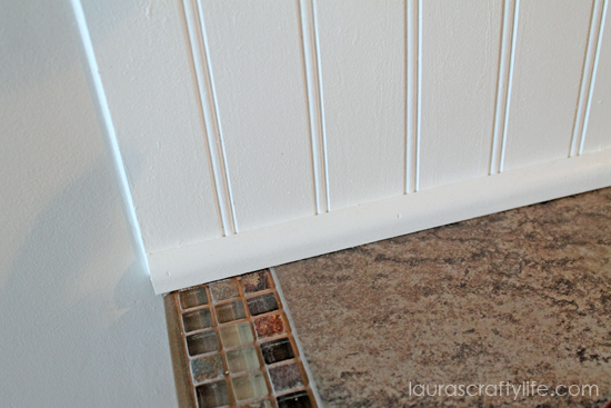 lower beadboard backsplash trim