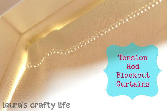 Tension Rod Blackout Curtains - Laurau0027s Crafty Life