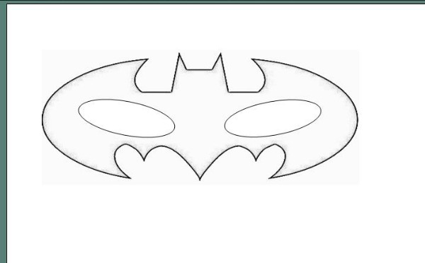 Batman mask template