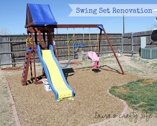 Swing Set Renovation Laura S Crafty Life